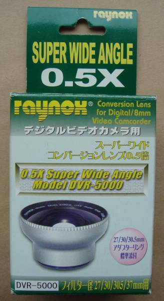 raynoxスーパーワイドコンバージョンレンズ DCR-5000 アダプタ付_画像1