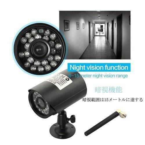 デジタルワイヤレス防犯カメラ 7インチモニター付き 防水カメラ SDカードに録画 そのまま液晶で再生可能 GW-W8071_画像2