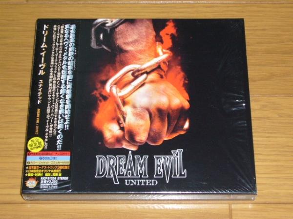 帯付 初回限定2CD 国内盤 DREAM EVIL / UNITED 2006年盤