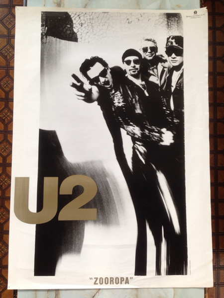 U2 特大ポスター ZOOROPA 洋楽 ボノ