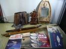 『釣竿』・渓流釣等・釣り装飾品/魚篭&・書籍/DVD・70点・『アルミ:背負子』『胴付長靴』『ライフジャケット』『釣果の木彫人形』