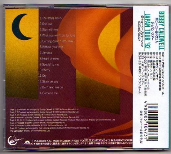 【BEST】ボビーコールドウェル/ベスト/来日記念 国内盤/AOR/即決_画像2