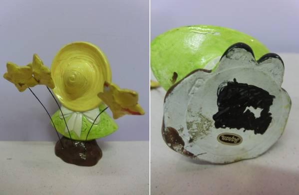 ビンテージ メッセージドール 女の子 キャンディハーツ◆昭和レトロ アンティーク 人形 陶器 置物 日本製 ファンシー Vintage Figure_画像3