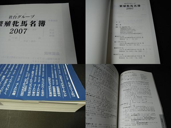 [古本]社台グループ繁殖牝馬名簿2007.2*2007年 非売品 ファーム _画像3
