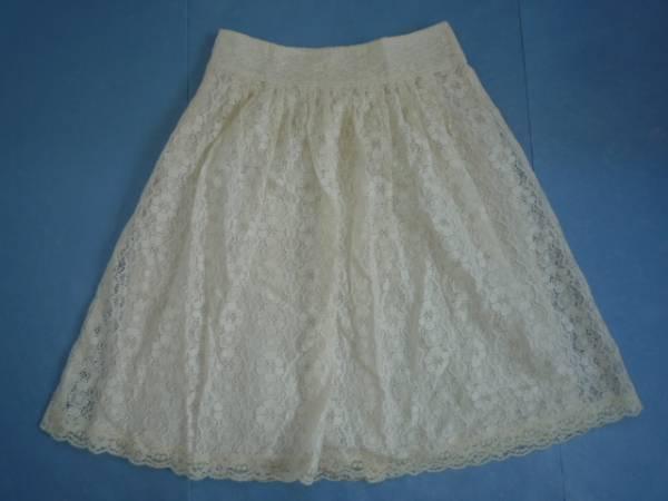 【お買い得!】 ◆ L'EST ROSE ◆ レーススカート オフホワイト 膝丈 2_画像2