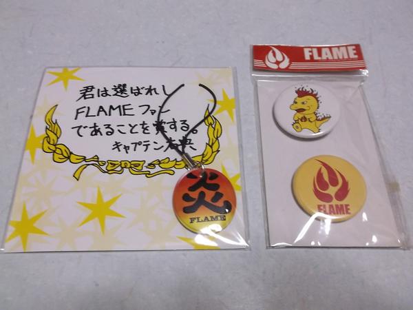 △ FLAME フレイム 【FC限定ストラップ + 缶バッジ2個】 新品♪