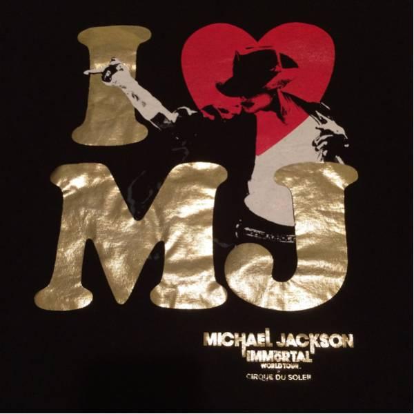 マイケルジャクソン Tシャツ THE IMMORTALワールドツアーTシャツ ライブグッズの画像