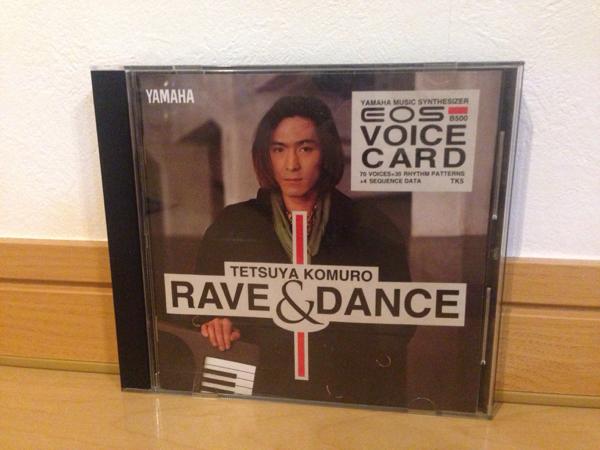 レア品★EOS★B500★ボイスカード TK5 RAVE&DANCE★小室哲哉_画像1