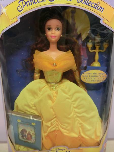 ディズニー 美女と野獣◆ベル 90s フィギュア 人形 ルミエール マテル ビンテージ◆Disney Beauty and the Beast MATTEL Doll Figure 映画_画像2