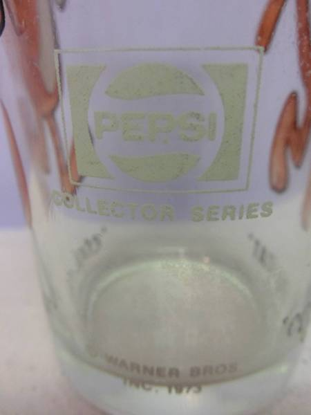 ルーニーテューンズ◆クールキャット 73年 ペプシ ビンテージ グラス コレクティブル◆Looney Tunes 70s VINTAGE PEPSI Glass 企業物_画像3
