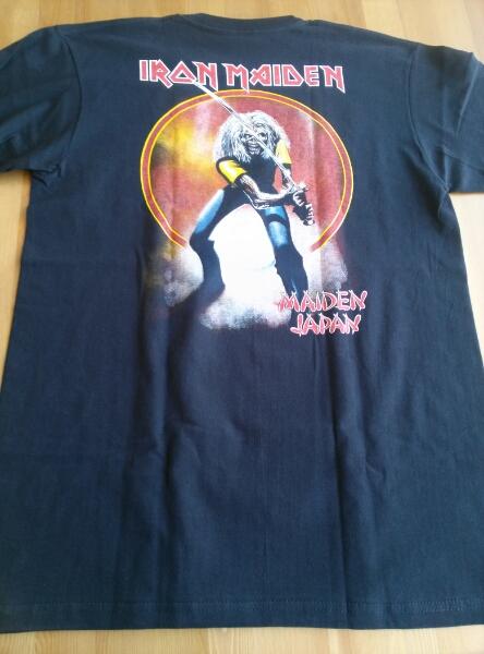 Iron maiden Tシャツ japan 黒M バックプリントあり