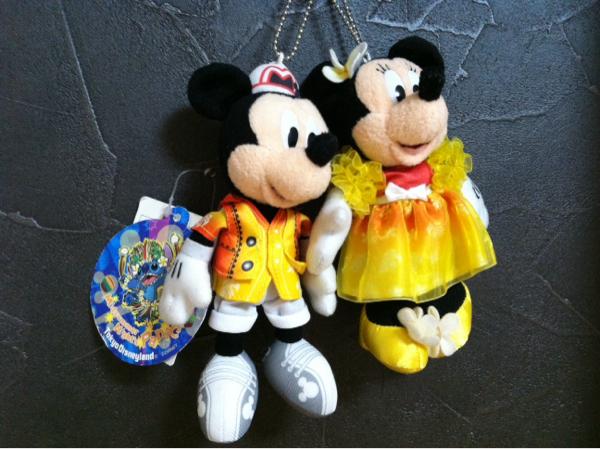 即決◆ 2010年 夏 ミッキー ミニー ぬいぐるみバッジ サマー ペア ディズニーリゾート ぬいば