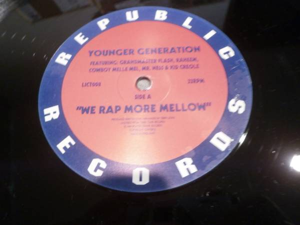 YOUNGER GENERATION / WE RAP MORE MELLOW //GARAGE/VICTOR ROSADO/DJ MILO(WILD BUNCH)/藤原ヒロシ/DJ NORI/MURO/DJ SPEN/ONENESS OF JUJU_画像3