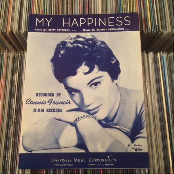 SHEET MUSIC CONNIE FRANCIS/MY HAPPINESS コニーフランシス
