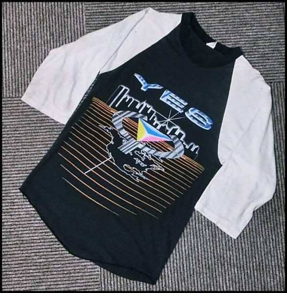 ビンテージYesイエス80sオリジナル黒バンTシャツ80年代ラグラン