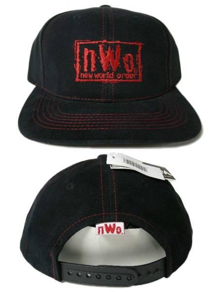 NWO N.W.O 90'S VINTAGE デッドストック ヴィンテージ スナップバック キャップ SNAPBACK CAP 武藤 蝶野 WWE WCW 日本 プロレス ムタ グッズの画像