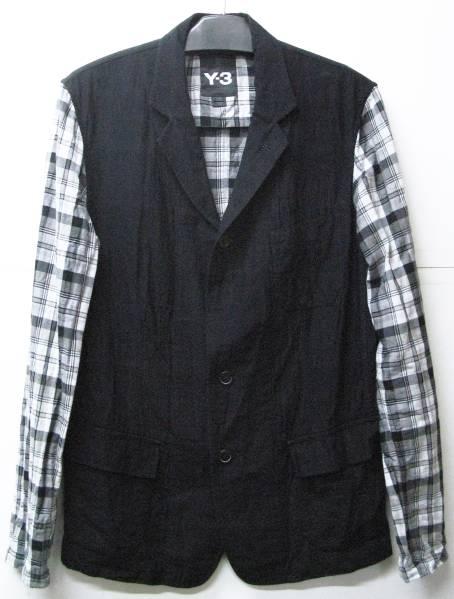 Y-3 ヨウジ YOHJI×adidas:袖切替 ジャケット Yohji Yamamoto jacket_画像1