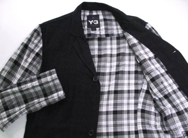 Y-3 ヨウジ YOHJI×adidas:袖切替 ジャケット Yohji Yamamoto jacket_画像3