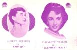 ヘップバーン超美品併映チラシ『麗しのサブリナ巨象の道』1954