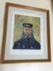 飾り絵★ゴッホの郵便配達夫ルーランの肖像 フレーム額装