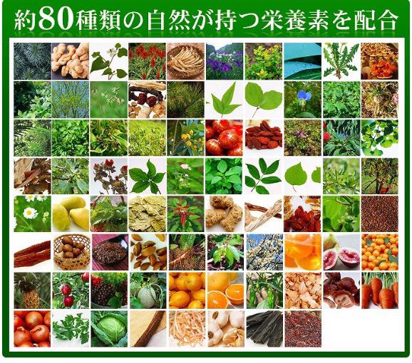 野草酵素 1ヶ月分 約80種類の栄養素 ダイエット 健康ケア 自然 健康食品 サプリメント_画像3