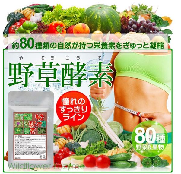 野草酵素 1ヶ月分 約80種類の栄養素 ダイエット 健康ケア 自然 健康食品 サプリメント_画像1