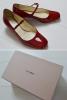 ★ 美品 ミュウミュウ MIUMIU 靴 パンプス 赤 エナメル レッド 35 22.5cm ★ プラダ PRADA