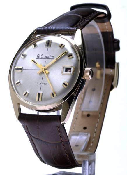 値下げ!LeCourierルク…リエ?60年代ヴィンテージ シャレのわかる方に!_経緯を無視すればなかなかいい時計です