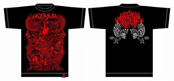 赤Sマキシマムザホルモン 毒髑髏(どくどくろ)Tシャツpizza of death mxmxm MWAM wanima 10-FEET 04 Limited Sazabysハイスタ