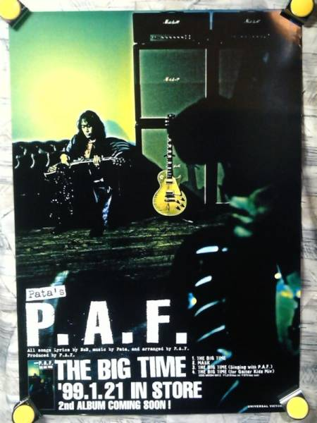 p9【ポスター/B-2】P.A.F.featuring pata-X JAPAN/'99-THE BIG~