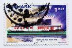 デンマーク切手 1973年 ノルディック・ハウス レイキャビク 郵便 郵趣 欧州 ヨーロッパ 北欧 建築 アイスランド Denmark Iceland