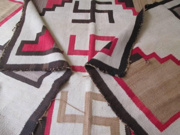 希少品!希少品 2m~Bigサイズ!30's~卍5個ナバホラグ Navajo ネイティブ /アリゾナ プエブロオルテガインディアンアンティークantique_画像3