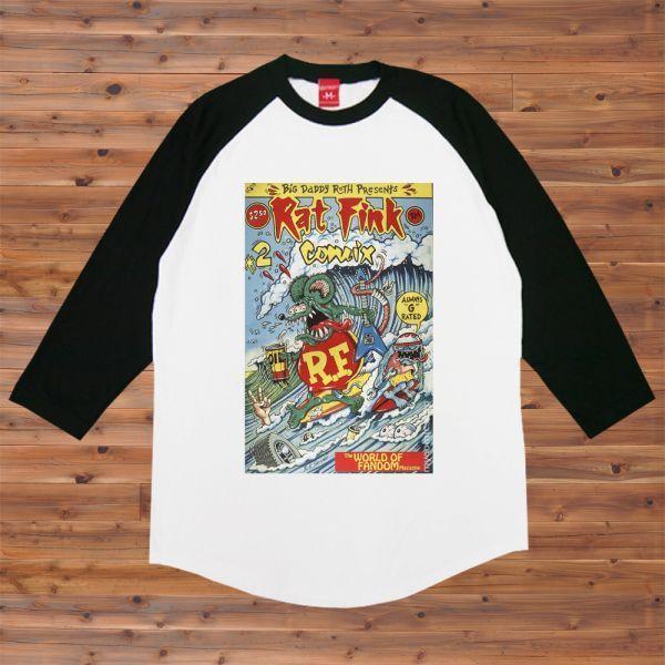 新品 RAT FINK ラットフィンク サーフィン Surf2 Tシャツ4【S】_画像1