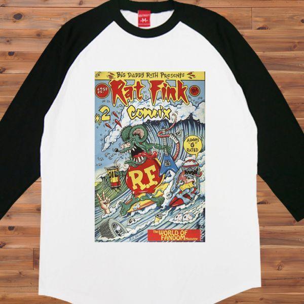 新品 RAT FINK ラットフィンク サーフィン Surf2 Tシャツ4【S】_画像2