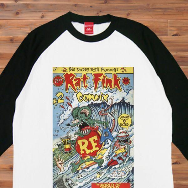 新品 RAT FINK ラットフィンク サーフィン Surf2 Tシャツ4【S】_画像3