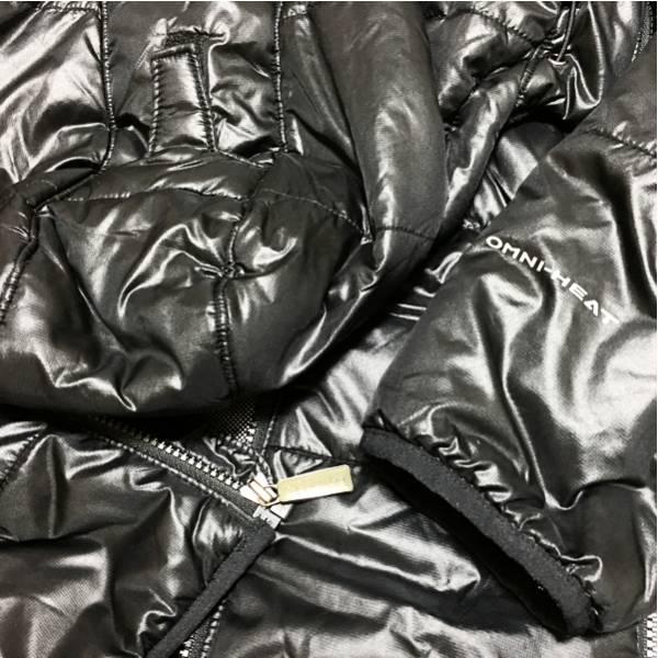f コロンビア columbia 黒の高機能フード付きダウンジャケットs_画像3