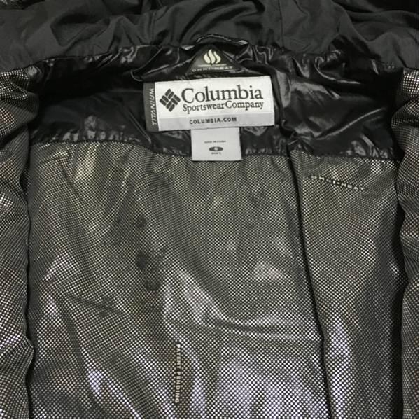 f コロンビア columbia 黒の高機能フード付きダウンジャケットs_画像2