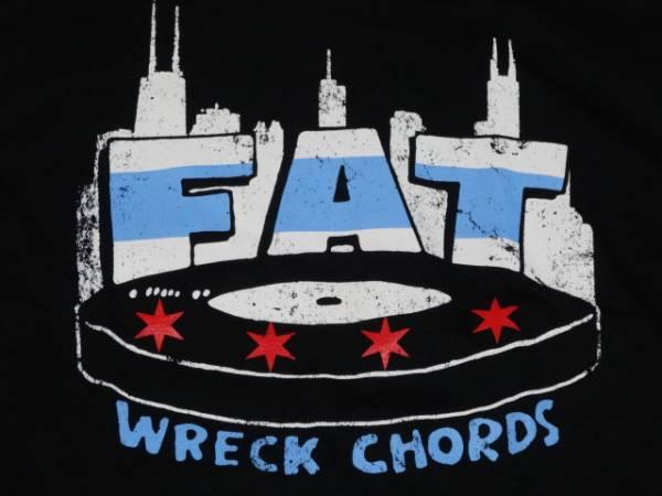 新品/FAT wreck chordsロゴTシャツM黒/NOFXHi-STANDARD幕張