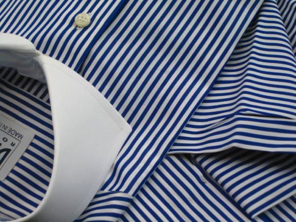 ★イタリアシャツDANROMA くっきりすっきりストライプクレリック RIGA BLU FIFTH_AVENUE とってもお勧め(^_-)-☆ 40-91_画像2