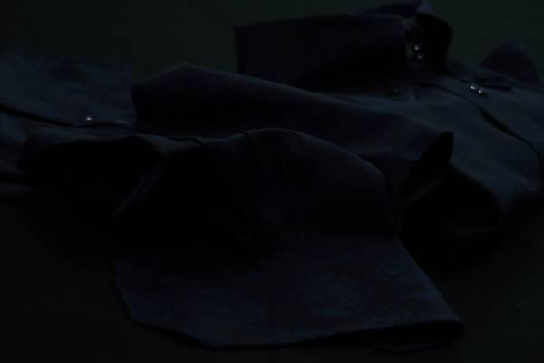 ★イタリア花柄シャツ DANROMA ドゥエボットーニERCOLE_NAVY セクシーに花柄黒くネイビー・・・♬~ L 42-93_画像2