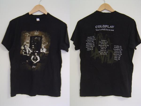 COLDPLAYコールドプレイTシャツSバンドT2008ツアーVIVA LA VIDA
