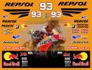 MotoGP2015 HONDA REPSOL REDBULL マルク・マルケス デカール