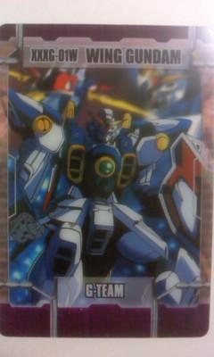 森永 ガンダム カード 6ー01ー091 ウイングガンダム W_画像1