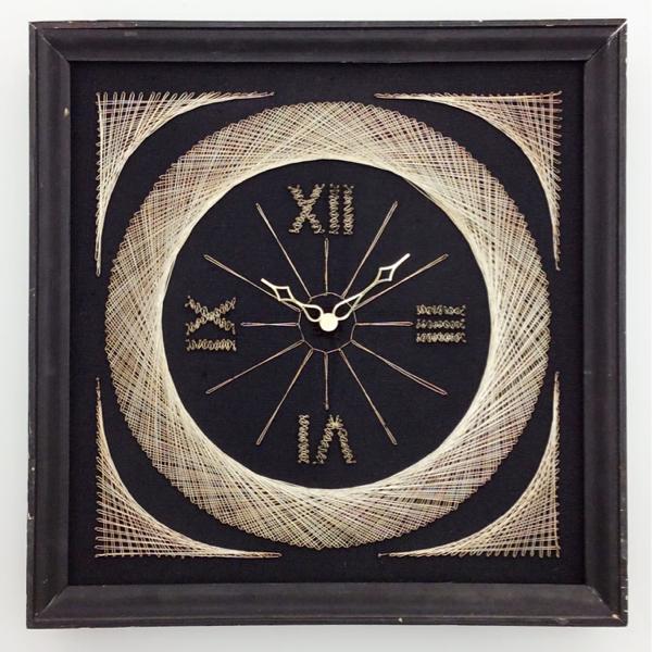 送料無料 アンティークウォールクロック UNKNOWN/ヴィンテージ壁掛け時計アメリカ製usa製ストリングスアートウォールデコイームズ50s60s70s_画像1