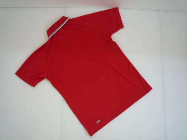 【お得!!】◆ユニクロ/UNIQLO◆ ポロシャツ 赤 半袖 S 衿ライン_画像2