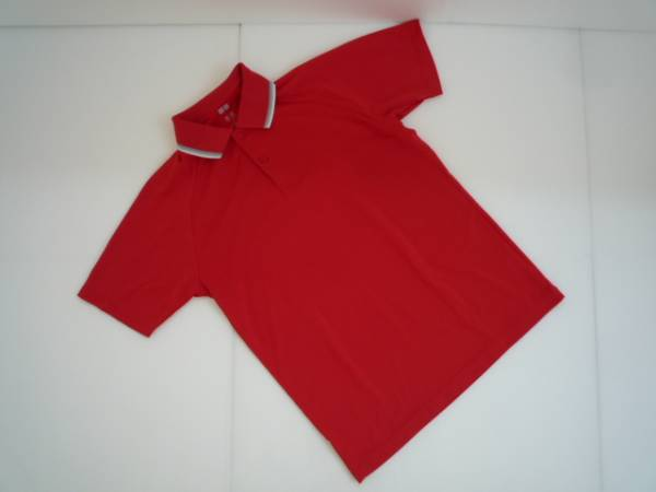 【お買い得!】 ◆ ユニクロ / UNIQLO ◆ ポロシャツ 赤 半袖 衿ライン Sサイズ (CM40M009)