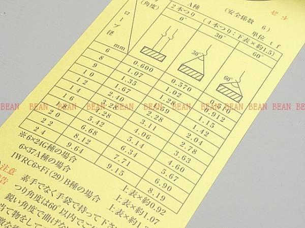 """◆ 高圧ホース入♪10mm×8mロック加工2本 ワイヤーロープ玉掛クレーン作業に!!新品未使用 """"""""3万円以上送料無料""""""""_画像3"""