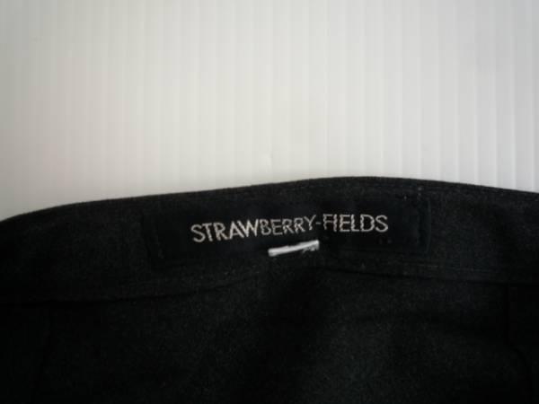【お買い得!】 ● STRAWBERRY-FIELDS ● 台形スカート 濃グレー 膝丈 2_画像3