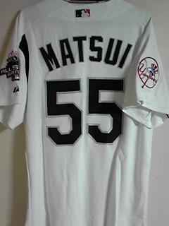 松井秀喜 2003 ヤンキース MLB ユニフォーム ジャージ L 超貴重 レア_画像3