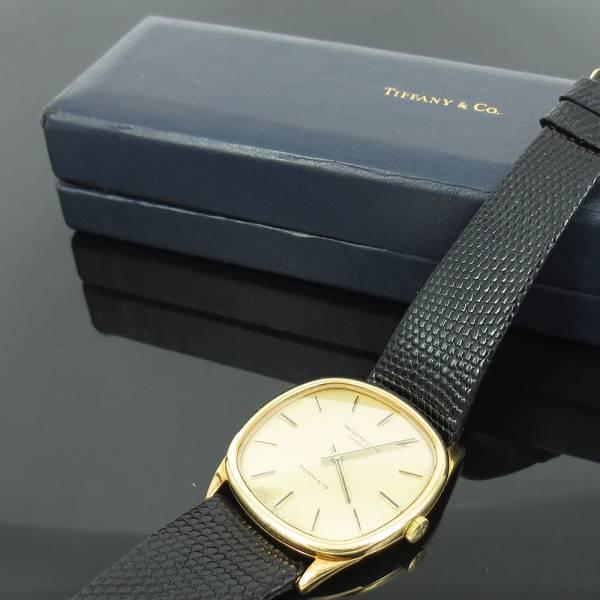 《Tiffanyティファニー&パテックフィリップ》18K腕時計ウォッチ_画像2
